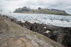 Svinafell Glacier, Vatnajokull national park, Iceland Stock Images