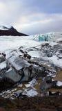 Svinafellsjokul glacier near Skaftafell in east fjords in Iceland Royalty Free Stock Photo