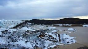 Svinafellsjokul glacier near Skaftafell in east fjords in Iceland Stock Photography