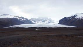 Svinafellsjokul glacier near Skaftafell in east fjords in Iceland Royalty Free Stock Images