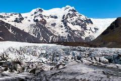 Svinafellsjokull冰岛冰川 免版税库存图片