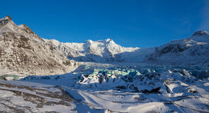 Svinafellsjokull冰川, Skaftafell,冰岛 库存照片
