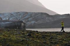 Svinafellsjokull冰川 库存图片