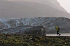 Svinafellsjokull glaciär Royaltyfria Bilder