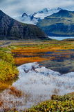 Svinafellsjokull glacier in Iceland Royalty Free Stock Images