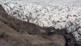 Svinafellsjokull in Iceland Stock Photography