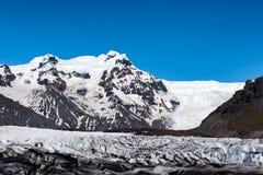 Svinafellsjokull Iceland lodowiec obrazy stock