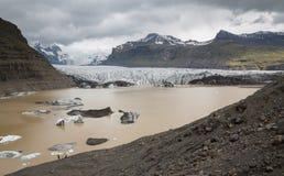 Svinafellsjokull in Iceland Stock Image