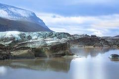 Svinafellsjokull Svinafell glaciär, Island Arkivbild
