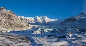 Svinafellsjokullgletsjer, Skaftafell, IJsland Stock Foto's
