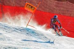 SVINDAL在奥迪FIS高山滑雪世界杯-下来人的Aksel隆德 免版税库存照片