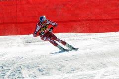SVINDAL在奥迪FIS高山滑雪世界杯-下来人的Aksel隆德 库存照片