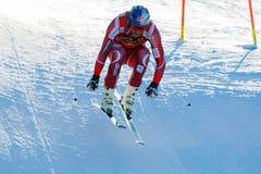 SVINDAL在奥迪FIS高山滑雪世界杯-下来人的Aksel隆德 图库摄影