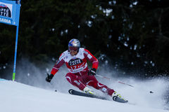 SVINDAL Aksel Lund in Audi Fis Alpine Skiing World-Schale Men's G lizenzfreie stockfotos