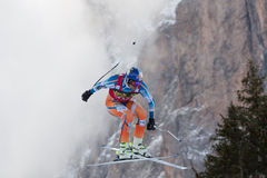 SVINDAL Aksel Lund (NOR). VAL GARDENA, ITALY - DECEMBER 21:  SVINDAL Aksel Lund (NOR) races down the Saslong competing in the Audi FIS Alpine Skiing World Cup Royalty Free Stock Photos