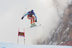 SVINDAL Aksel Lund (NOR). VAL GARDENA, ITALY - DECEMBER 21:  SVINDAL Aksel Lund (NOR) races down the Saslong competing in the Audi FIS Alpine Skiing World Cup Royalty Free Stock Photography