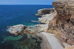 Svindlande seascape, Newfoundland Fotografering för Bildbyråer