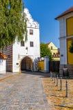 Svinenska port - Trebon, Tjeckien Arkivbilder