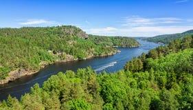Svinesund fjord panorama Stock Images