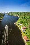 Svinesund fjord- view from old bridge Royalty Free Stock Images