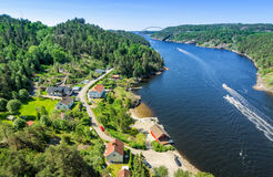 Svinesund fjord and village Royalty Free Stock Photos