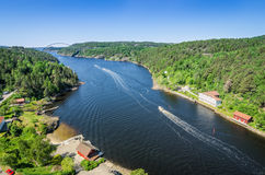 Svinesund fjord - west side view Stock Photos