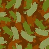 Svinet könsbestämmer den eamless armémodellen Piggy samlagmilitärbackgro vektor illustrationer
