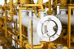 Svinlauncher i fossila bränslenbransch, rengörande rörlinje utrustning i fossila bränslenbransch, rengöring som leda i rör upp pr royaltyfria bilder