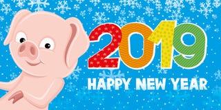 Svinsymbol av det nya året Royaltyfria Bilder