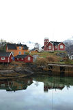 Svinøya's houses and rorbuer Royalty Free Stock Photo