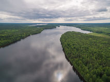 Svir river, Karelia, Russia Royalty Free Stock Photography