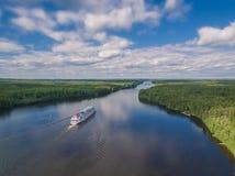 Svir river, Karelia, Russia Royalty Free Stock Photos