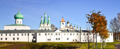 Svirsky monastery. The Holy Trinity Alexander Svirsky monastery in Leningrad region Stock Photos