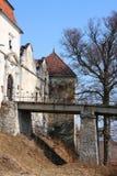 Svirz Schloss, Ukraine Stockfotografie