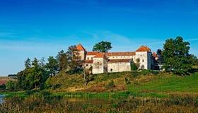 Svirzh-Schloss in Ukraine Stockfotografie