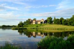 SVIRZH UKRAINA - JUNI 18 forntida slott Svirzh Royaltyfria Bilder