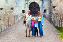 Svirzh (Ukraine) Castle and family near. Stock Photo