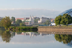 Svisloch river in Minsk, Belarus Royalty Free Stock Photo