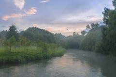 Svislotch rzeki półmrok zdjęcie royalty free