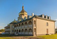 SVITIAZ, UKRAINA: Peter i Paul monaster, braterski budynek ja Obrazy Stock