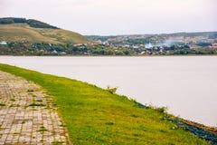 Sviyazhsk är en lantlig lokalitet i republiken av Tatarstan, Ryssland som lokaliseras på sammanflödet av Volgaen och Sviyagaen Ri royaltyfria foton