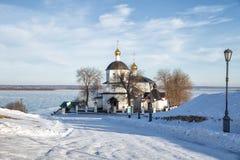 Sviyazhsk, kościół Helena i Constantine zdjęcia royalty free