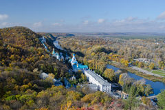 Svjatogorsk Heiliges Dormition Svyatogorsk Lavra Stockfoto