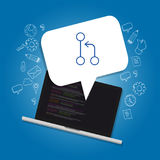 SVN sub version programming control and git Royalty Free Stock Photo