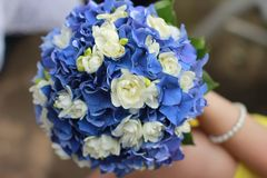 Svodebnyj a bouquet of flowers for the bride stock photo