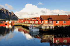 Svolvaer. Is the capital of the Lofoten Islands, Norway Stock Photo