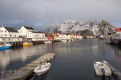 Svolvaer Fishing Port In The Lofoten Islands Stock Images