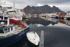 Svolvaer Harbour, on the Lofoten Islands, Norway, Scandinavia Stock Image