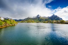 Svolvaer in Norway royalty free stock photo