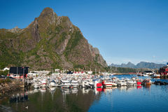 Svolvaer in norway Stock Photography